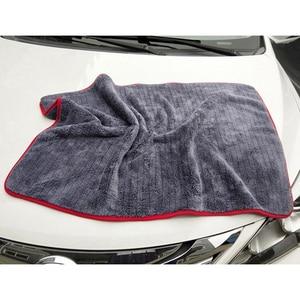 Image 4 - Trapo para coches 90x60cm detallado de coches trapo lavado coche microfibra toalla coche limpieza 900GSM microfibra gruesa para el cuidado del coche Cocina