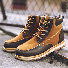 Winter New Arrival Stylish Mens Fashion Formal Business Boots Suede Leather Man Ankle Warm Work Flats Shoe Lace-up Yasialiya