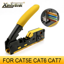 xintylink all in one rj45 pliers crimper cat5 cat6 cat7 cat8 network tools rj 45 ethernet cable Stripper clamp tongs rg45 lan