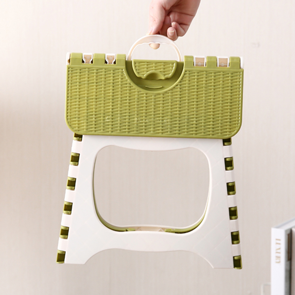 New Plastic Folding Step Stool Portable Folding Chair Small Bench For Children Use For Bedroom Dorm And Outdoor Traveling Fishin
