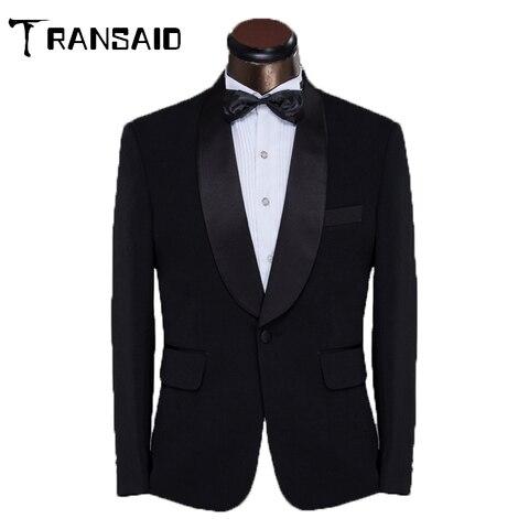 Terno de Negócios Vestido de Casamento Homem Único Breasted Branco Preto Formal Smoking Ajuste Fino Terno Masculino Noivo Jaqueta
