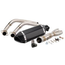 MT 07 Motorcycle Akrapovic Exhaust And Link Pipe For Yamaha MT07 2014 2015 2016 2017 2018 2019 Escape Slip-on MT 07