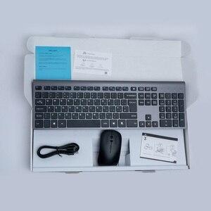 Image 5 - Russo Tastiera Senza Fili Del Mouse set Ricaricabile 106 Tasti Full Size Tastiera Senza Fili e Mouse 2400 DPI, per il Computer Portatile Del PC Del Computer