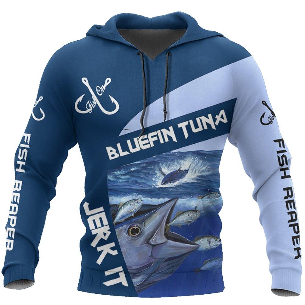 Bluefin Tuna Fishing 3D Printed Men Hoodies Retro Harajuku Fashion Hooded Sweatshirt Autumn Hoody Casual streetwear hoodie DY-23