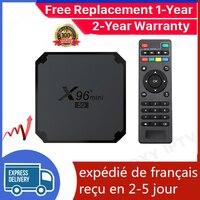 Nuovo X96mini 5G iptv box Android 9.0 tv box 1G 8G 2G 16G Amlogic S905W4 smart ip tv Set Top Box nave dalla francia