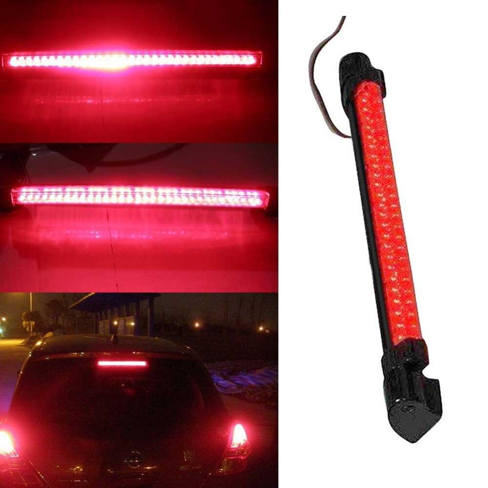 12v 24 led de alta montagem parar cauda traseira luz de advertência lâmpada carro vermelho terceira 3rd luz freio estacionamento super brilhante longa vida #279606