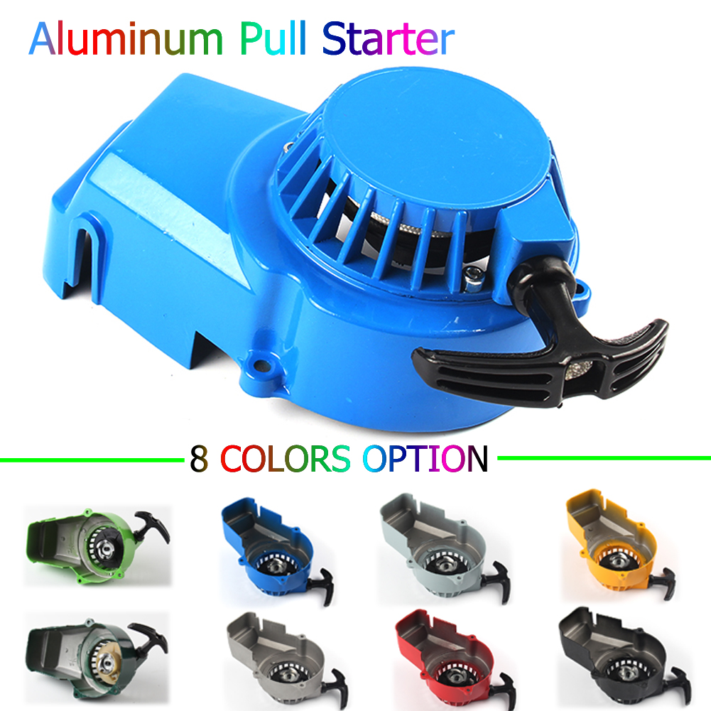 Алюминий Потяните Стартер для 2-х тактный 47cc 49cc двигатель мини мото байк карманный велосипед газовый Скутер ATV Quad Мотоцикл