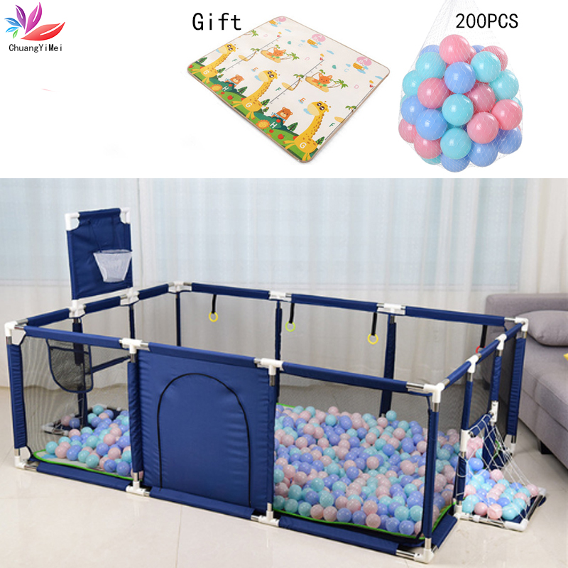 Baby Playpen For Children Pool Ball For Newborn Baby Fence Playpen For Baby Pool Children Playpen Kids Safety Barrier Playground