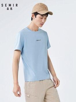 2020 new short sleeve Tshirt men hit color letter print t-shirt round neck hooded cotton breathable summer tshirt face print dolman sleeve curved hem tshirt