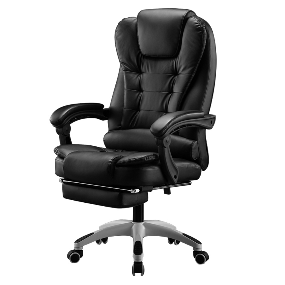 Home Office Computer Desk Boss Massage Chair With Footrest Armrest Pu Leather Adjustable Reclining Gaming Chair Office Chairs Aliexpress