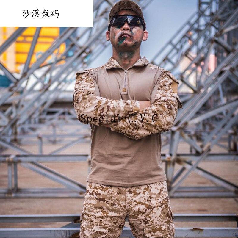 Roupas de Camuflagem tático Uniforme Militar Terno Homens Do Exército DOS EUA Roupas Shirt + Calças de Carga Combate Militar