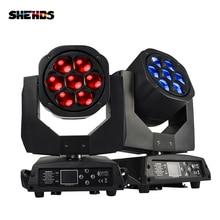 جديد كبير النحل العين 7x15 واط LED تتحرك رئيس التكبير وظيفة DMX 512 غسل أضواء RGBW 4IN1 شعاع تأثير ضوء حفلة/بار/DJ/المرحلة الإضاءة