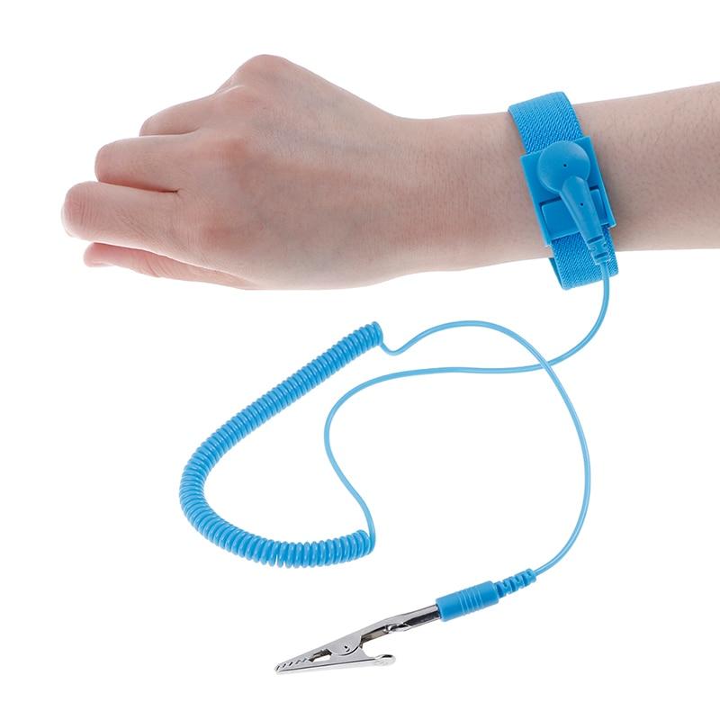 Антистатический браслет электростатический беспроводной Регулируемый ESD Discharge кабель наручный ремешок ручной работы с запасным браслетом