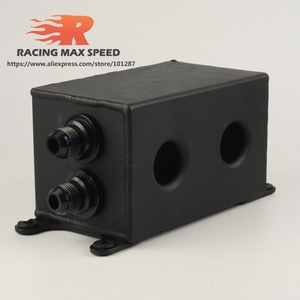 Image 5 - Aluminum Universal Racing AN10 Oil Catch Tank Can Turbo Reservoir Catch Oil Catch Can Breather Tank OCT1120