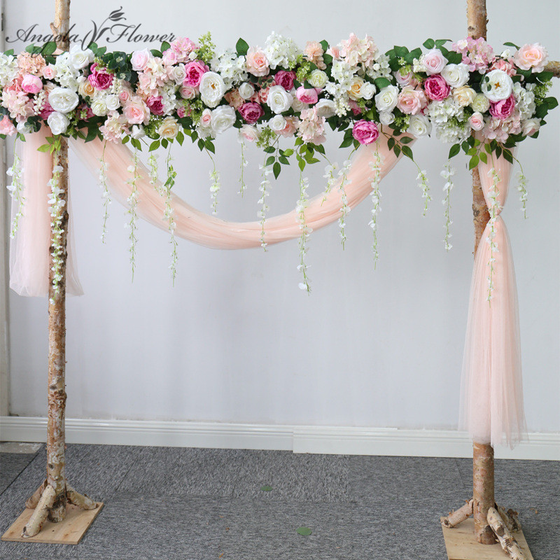 Искусственные искусственные Искусственные цветы на заказ, гирлянда в лесном стиле для свадебного декора