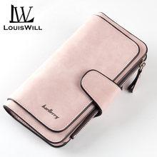 Кожаные женские кошельки louiswill длинный клатч кошелек для