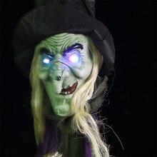 Juguetes de regalo de Festival para Niños, bruja colgante, muñecos luminosos de fantasma, esqueleto horrible de Halloween, monstruo, accesorios colgantes, colgante