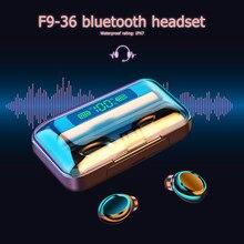 Bluetooth Kopfhörer TWS Wireless Headset mit 2200mAh Power Bank Wasserdichte Mini Stereo Kopfhörer PK F9-36 Ohrhörer