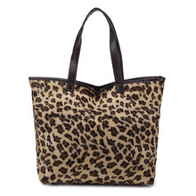 Saco de bolsa grande fluff pano leopardo moda bolsas personalidade baga feminino casual bolsa de ombro