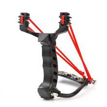 Professional slingshot rubber band traditional high strength steel Hunting Catapult Hunter Folding Wrist Sling Shot цены