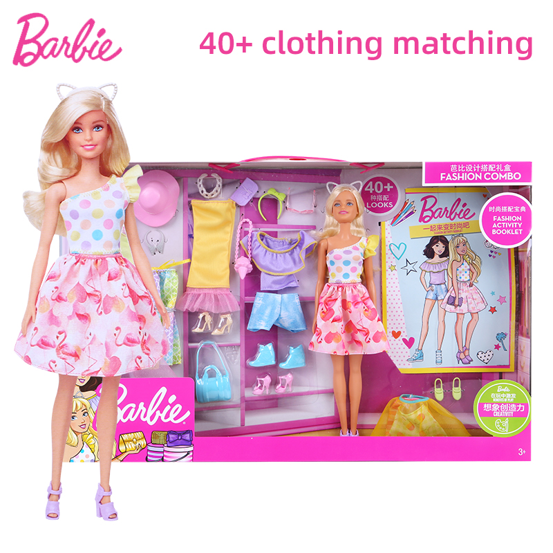 Barbie Fashion Combination Sweet Match Dress Up Gift Box Gfb83 Multi Access Girl Toy Children S Day Gift Aliexpress