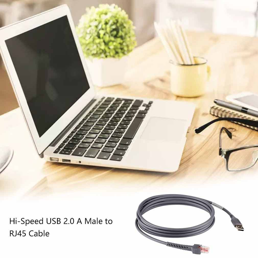 6 Feet USB RJ45 motorola kablosu sembol LS1203 LS2208 LI2208 LS3008 LS4208 DS6708 barkod tarayıcı CBA-U01-S07ZAR