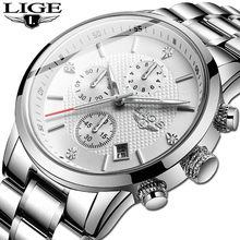 2020 Men's Watches Top Luxury Brand LIGE Analog W