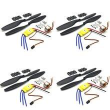 4Sets XXD A2212 A2208 Brushless Motor 930KV 1000KV 1400KV 2200KV 2600KV 1100KV 30A ESC 1045 Propeller Combo for RC Multirotors