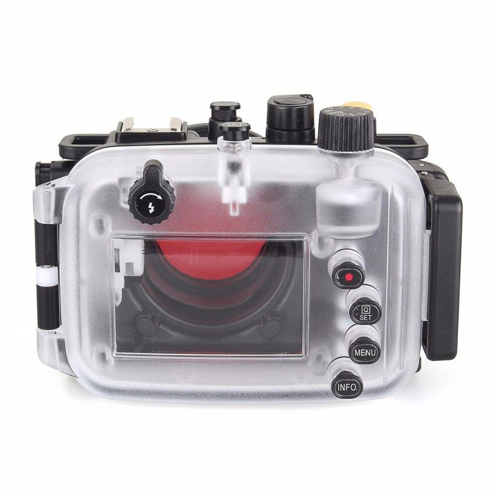 Image 5 - 40 متر/130FT تحت الماء كاميرا مقاومة للماء الإسكان الغوص الحال بالنسبة لكانون PowerShot G9X + 67 مللي متر الأحمر تصفيةcase for canonwaterproof camera housingwaterproof case for camera -