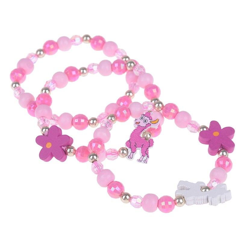 3Pcs Lovely Kids New Children's Bracelet Jewelry Colorful Animal Acrylic Beads Bracelets Birthday Party Jewelry Gift