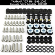 Fit For Yamaha YZFR6 YZF-R6 R6 1999 2000 2001 2002 Motorcycle Complete Full Fairing Bolts Kit Nuts Screws Kit Stainless Steel(China)