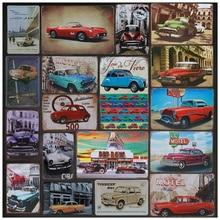 Vintage estaño signo Tintin Cuba Metal Poster coche Bus Hotel decoración de pared estilo hierro venta al por mayor Placa de pintura arte Placa 8x12 pulgadas H25