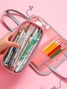 Image 3 - Multi Function Waterproof Large Capacity Pen Bag Pencil Case Schoolgirl High Capacity Stationery Case Originality Girl