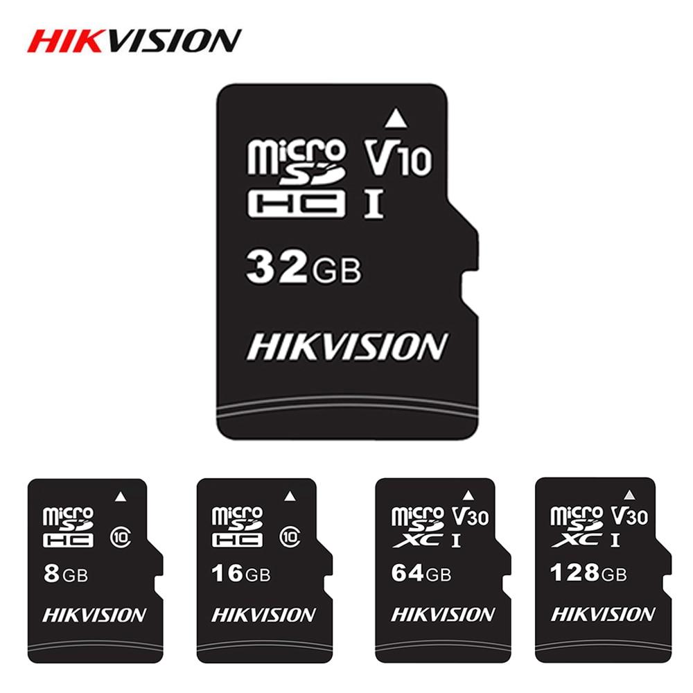 Cartão micro sd 32gb 64gb 128gb 16gb 8gb de alta velocidade do cartão de memória do microsd da classe 10 do cartão de memória de hikvision