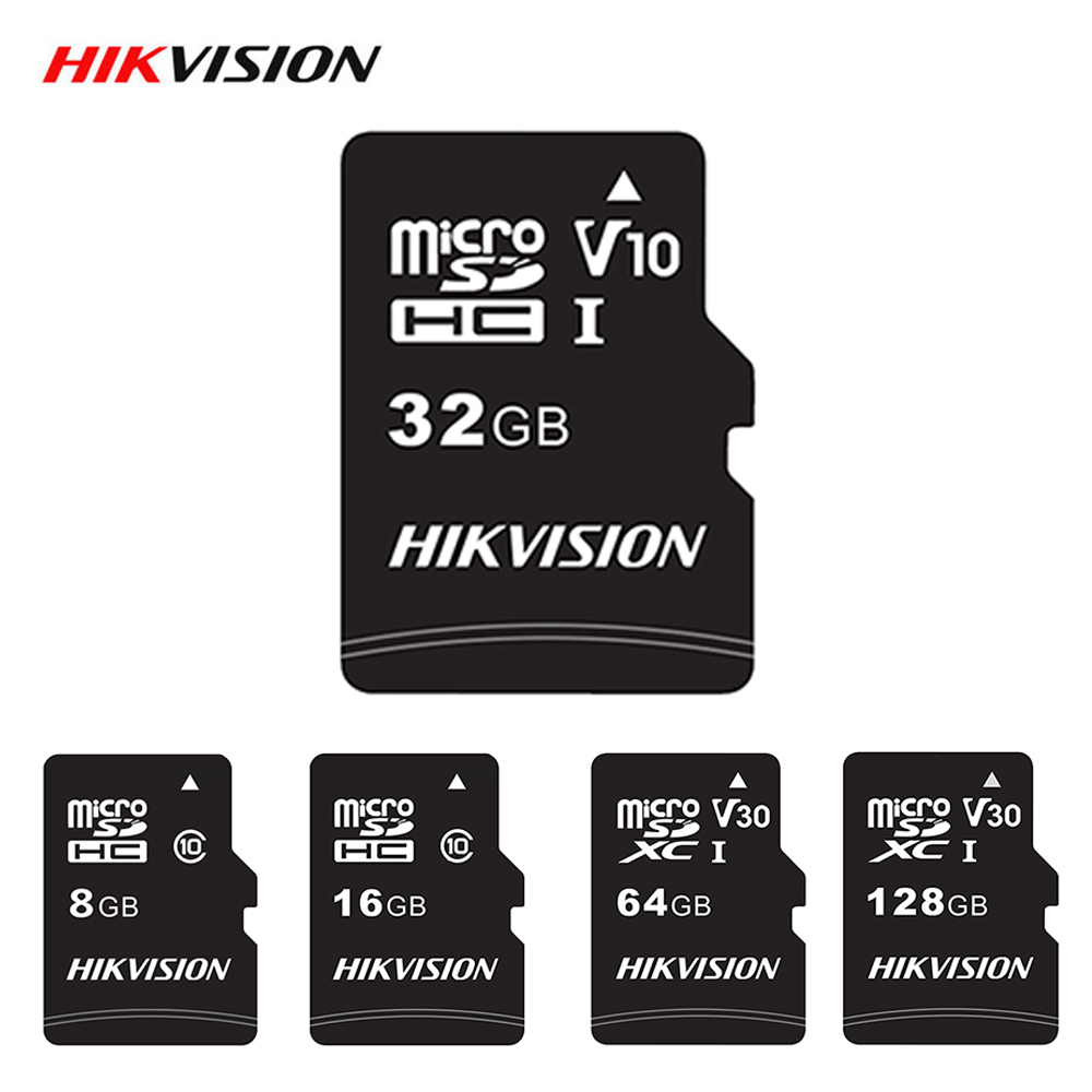 Hikvision карта памяти Microsd Class 10 Micro SD карта 32 Гб 64 Гб 128 ГБ 16 ГБ 8 ГБ высокоскоростная TF карта для Android камера планшета