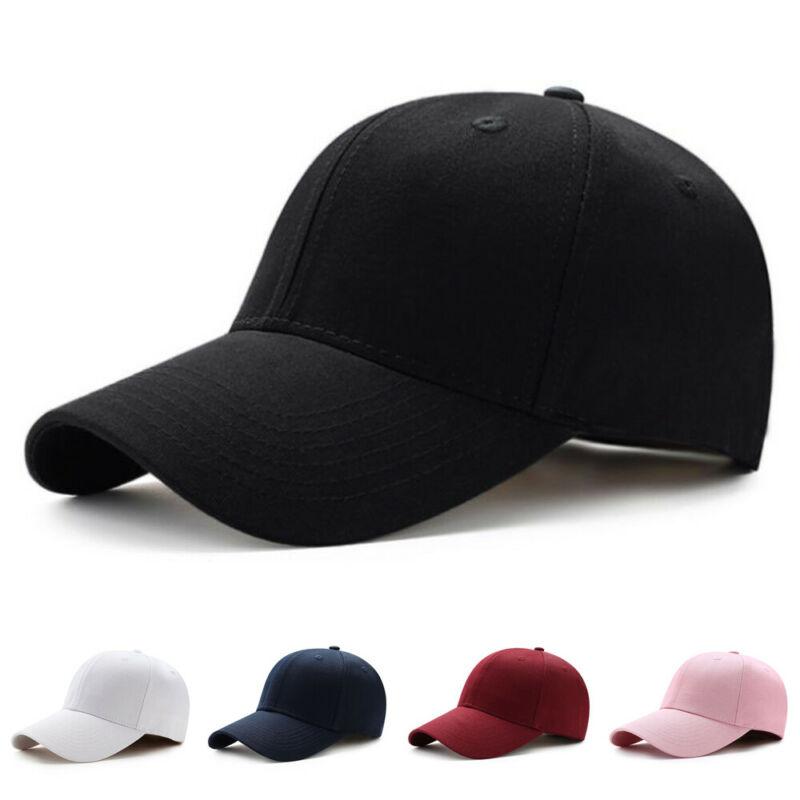 Men Women's Sports Baseball Cap Blank Solid Snapback Golf Ball Hip-Hop Hat Sports Casual Dancing Hat