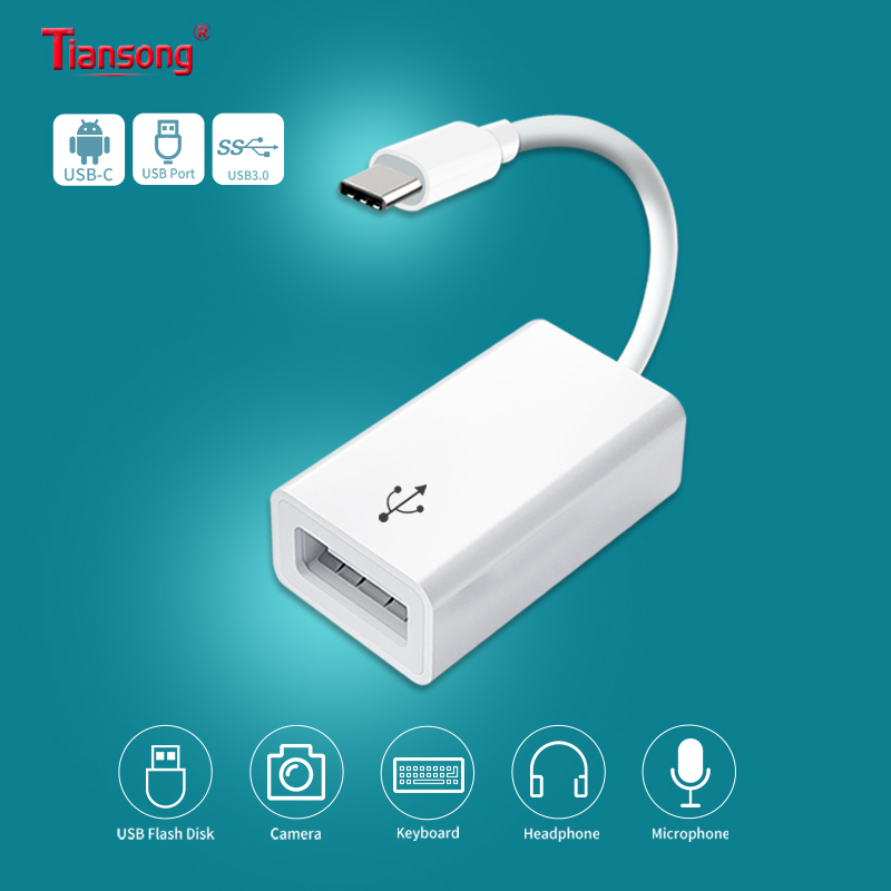 USB 3.0 OTG Phone Aux Adapter Cable Type-C/USB-C To USB Female Converter For MacBook Pro Samsung S9  Huawei