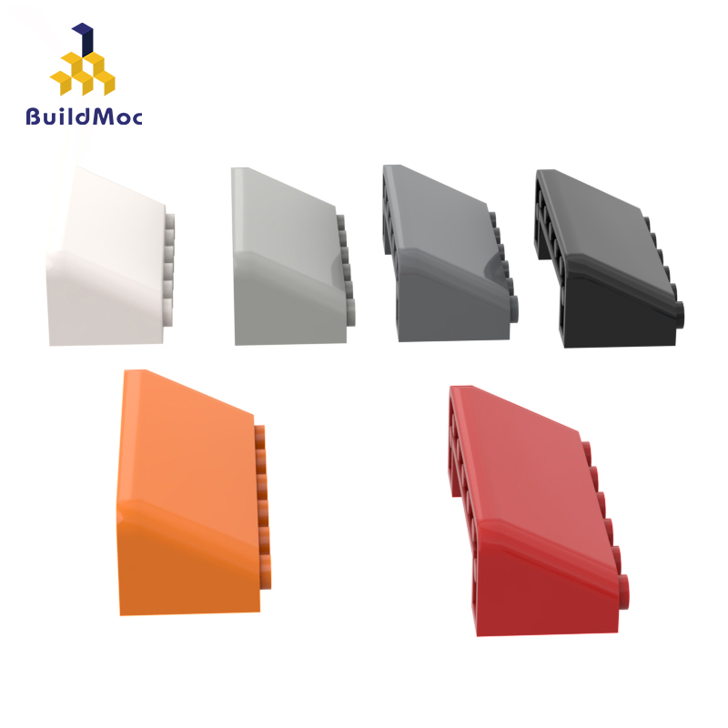 BuildMOC Compatible Assembles Particles 4176 2x6x2 Inclined Glass For Building Blocks Parts DIY LOGO Educational Gift Toys