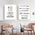 Настенная Картина на холсте для кухни в скандинавском стиле, домашний декор, Картина на холсте, посуда, современный минималистичный настенн...
