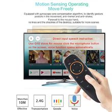 G10 2.4G Voice Air Mouse Fly Mouse IR Learning Function Remote Control Work With Android Box TV Controller  W91A