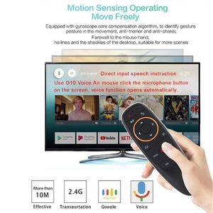 Image 1 - G10 2.4G Voice Air Mouse Fly Mouse IR Learning Function Remote Control Work With Android Box TV Controller  W91A