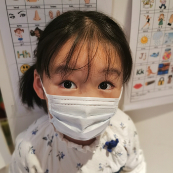 100PCS/lot 3 layer Disposable Elastic Child Mouth mask Soft Breathable Flu Hygiene Kids Face masks anti dust mask