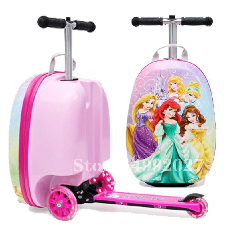 חדש חמוד ילדים קטנוע מזוודה עצלן עגלת תיק ילדים לשאת על בקתת נסיעות מתגלגל מזוודות על גלגלים ילדי אריזת מתנה