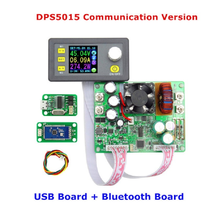 <font><b>DPS5015</b></font> 50V <font><b>15A</b></font> 0-750w Constant Voltage Current DC- DC Step-down Communication Power Supply Buck Voltage Converter LCD Voltmeter image