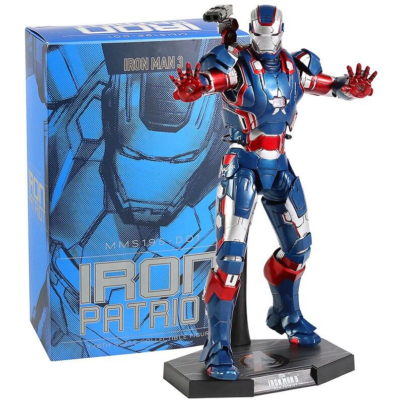 Nouveau HC MMS195 fer homme Avengers figurine modèle jouet cadeau avec lumière LED