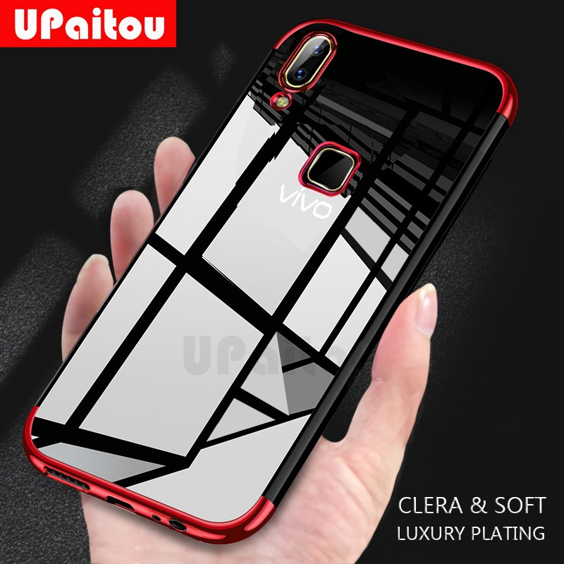 UPaitou Luxury <font><b>Case</b></font> for <font><b>VIVO</b></font> Z5X Z3i <font><b>Z1</b></font> <font><b>Pro</b></font> Y97 Y95 Y93 Lite Y85 Y83 Y81 Y79 Y69 Y67 Y66 Y65 TPU Soft Silicone Transparent <font><b>Case</b></font> image