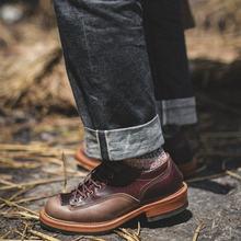 Винтажная Мужская обувь в британском стиле с круглым носком;