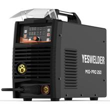 YESWELDER MIG250A אין גז וגז MIG מכונת ריתוך MIG רתך עם אור משקל יחיד שלב 220V ברזל רתך