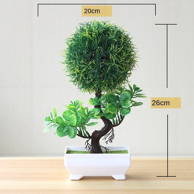 Artificial Plants Potted Bonsai Green Small Tree Plants Fake Flowers Potted Ornaments for Home Garden Decor Party Hotel Decor 5
