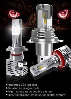 China High-end Auto Canbus LED Headlight Car Bulbs H7 H11 9006 9005 H4 LUMILEDSChips 12000Lm 6000K No Error led bombillas coche image